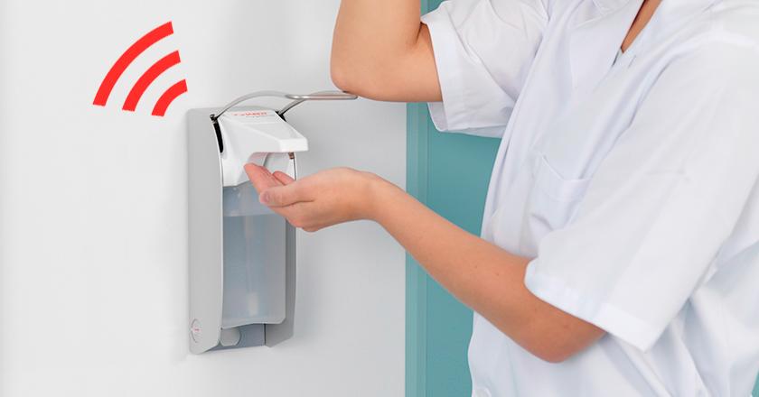Wifi-fähige Desinfektionsmittelspender Compliance