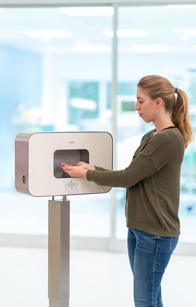 Robuste Händehygiene-Station schützen in der Grippesaison