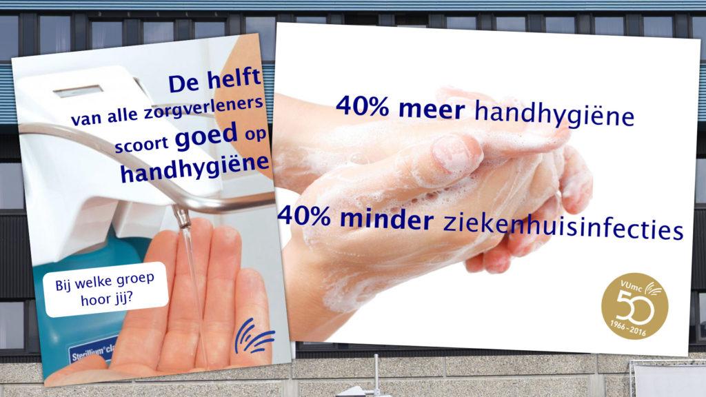 Poster dienen als Nudges zur Verbesserung der Händehygiene im Krankenhaus