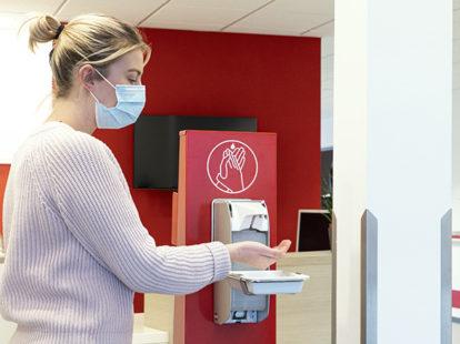 Krankenhausbesucher Händehygiene