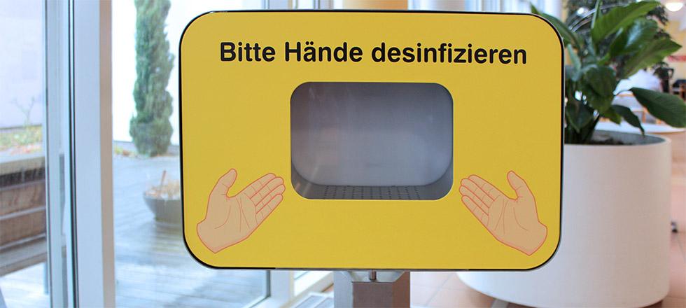 Händehygiene unter Krankenhausbesucher