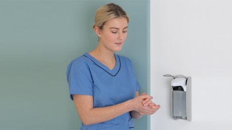 Die 6 Schritte der Händedesinfektion