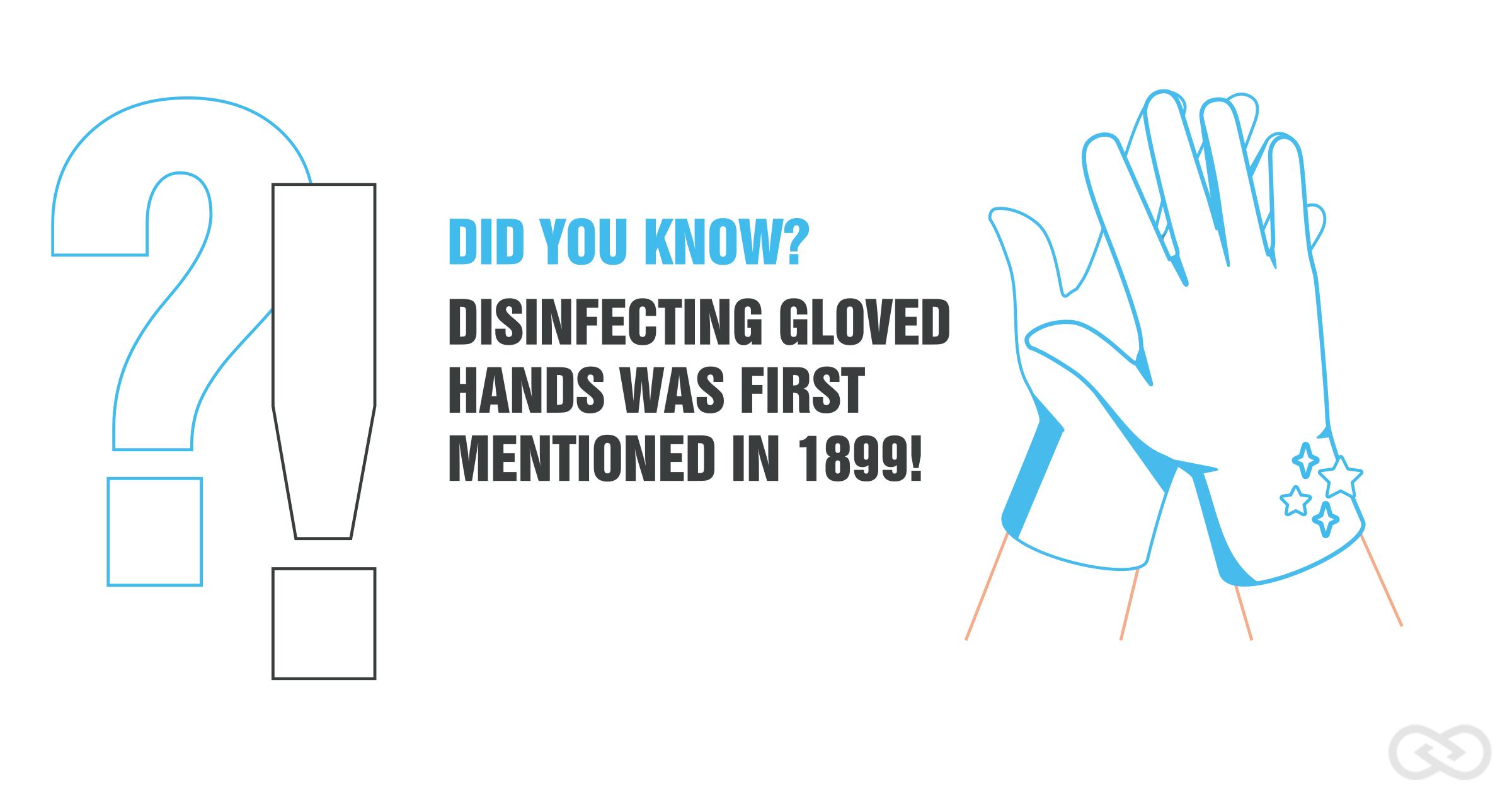Hand hygiene medical gloves